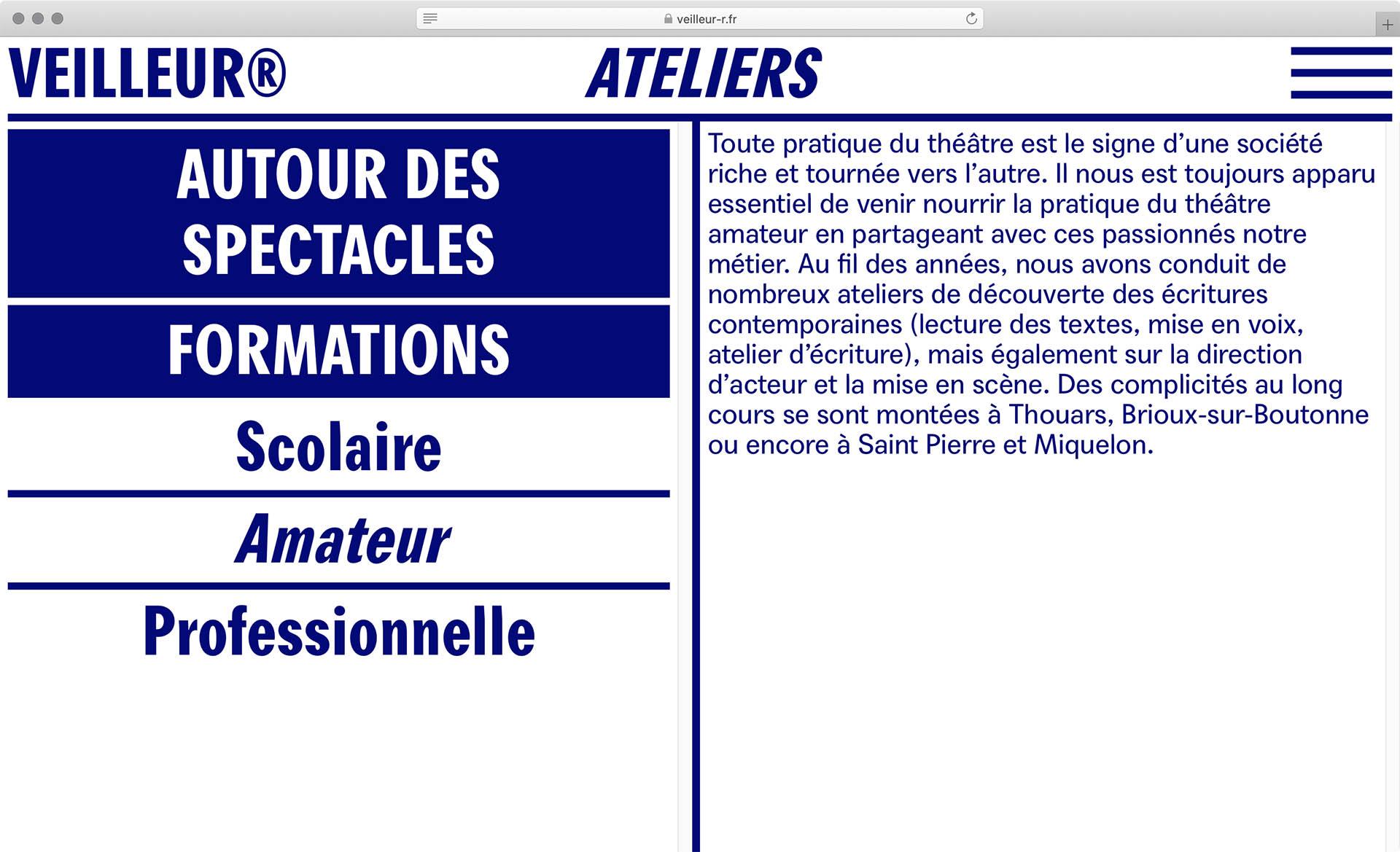 Cyril Makhoul - (link: https://veilleur-r.fr/ text: La compagnie du Veilleur®)— Visual Identity and webdesign.